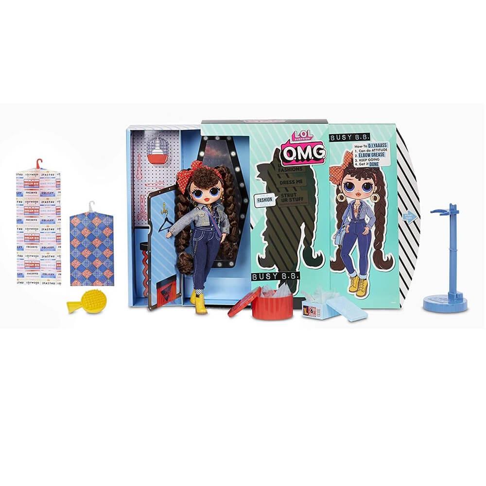 Большая кукла LOL Surprise OMG Busy B.B. Fashion Doll с 20 сюрпризами